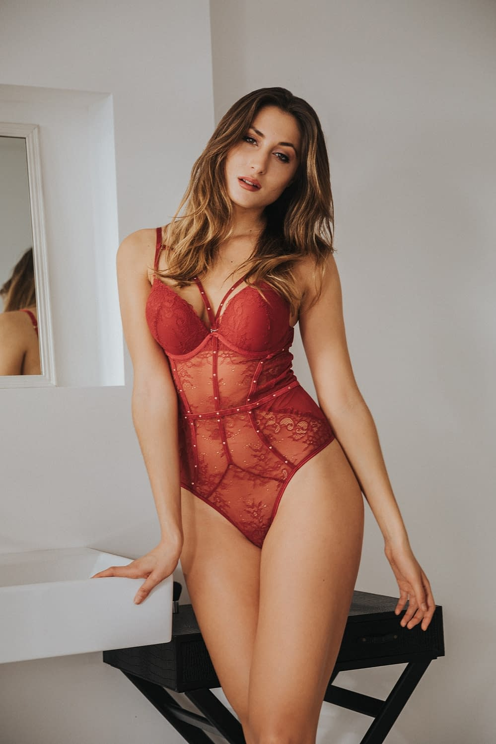 Red Lingerie Nicole