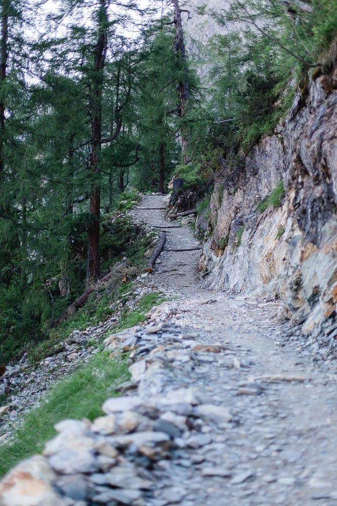 Wanderweg zum Tappenkarsee