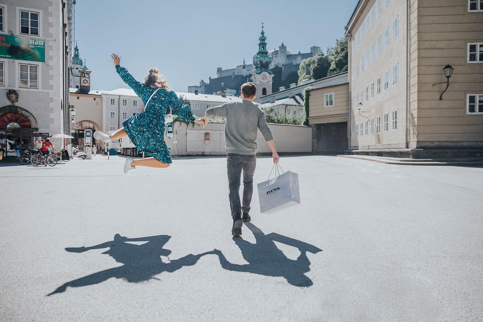 Shopping in der Altstadt von Salzburg