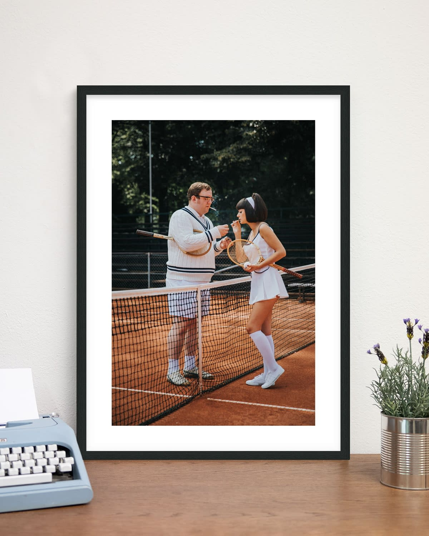 Rahmen: Schwarz - Retro Tennis - Sixties Project