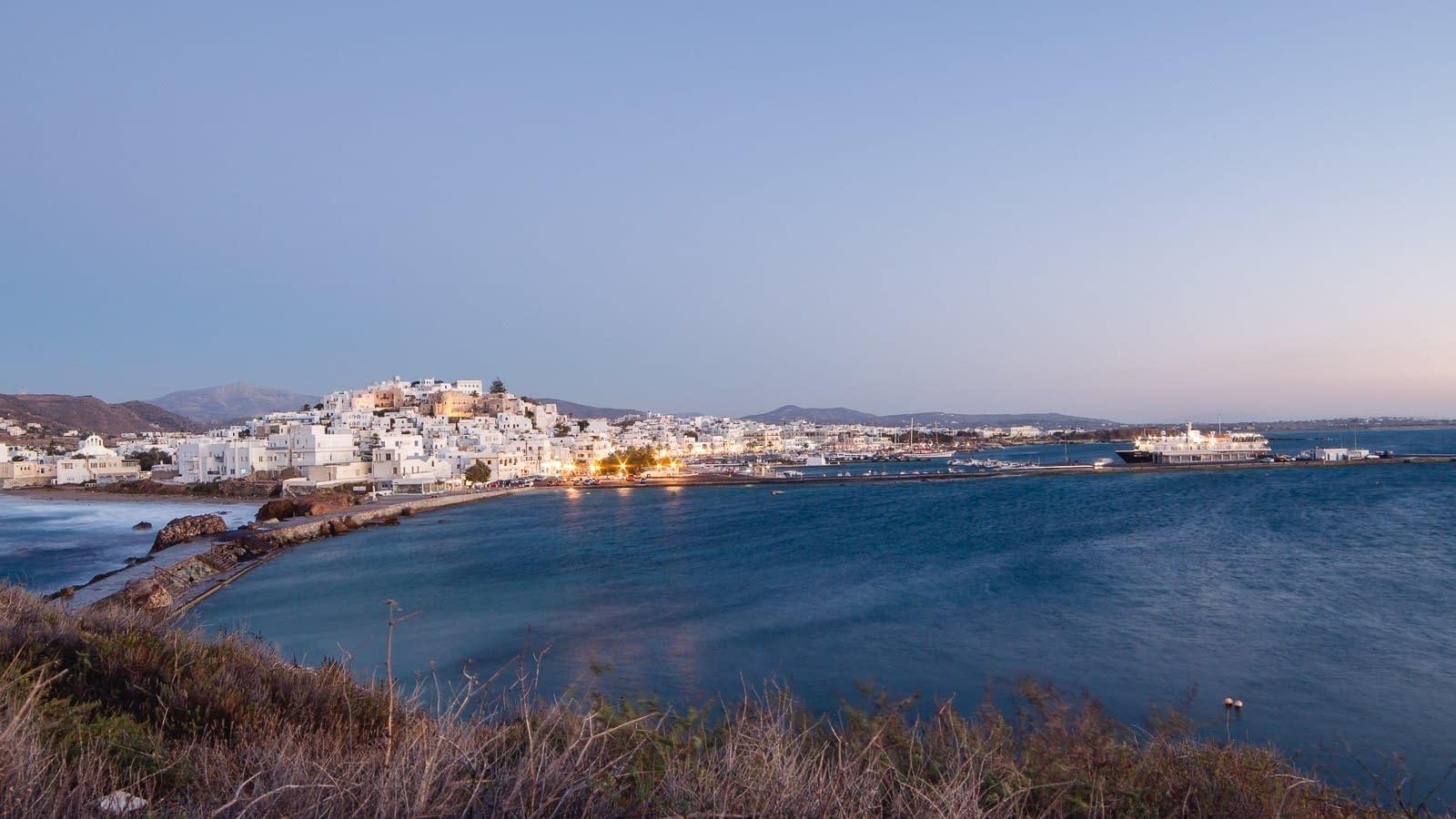 Blick auf Naxos Chora