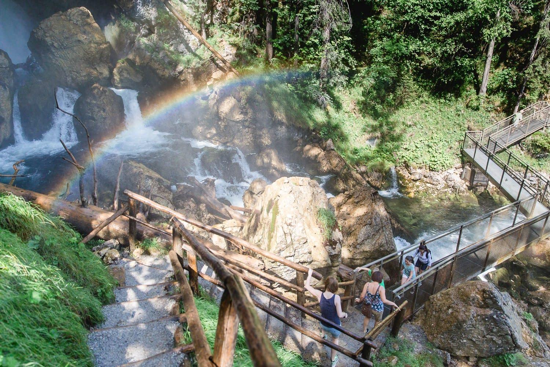 Regenbrogenbrücke Gollinger Wasserfall
