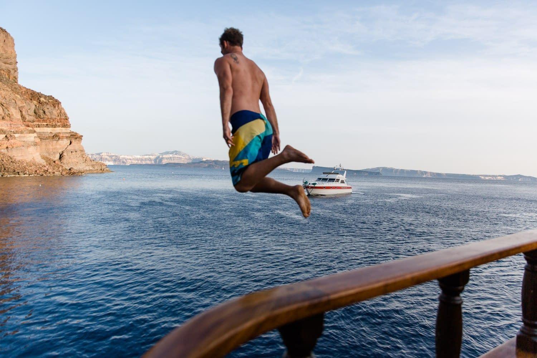 Bademöglichkeiten bei der Bootsfahrt
