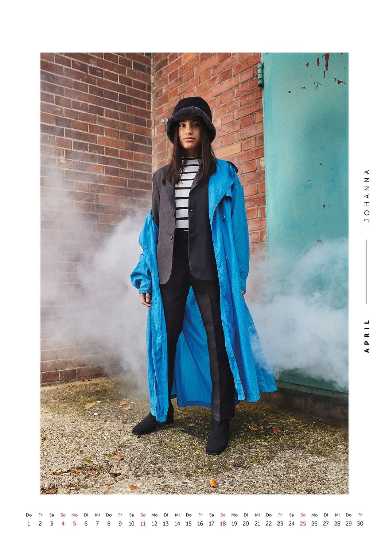 April - Volkshilfe Fashion Kalender 2021 - Johanna