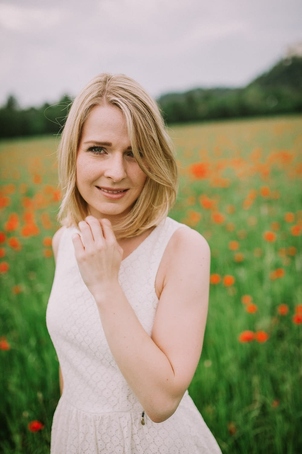 Field of poppies - with Susann