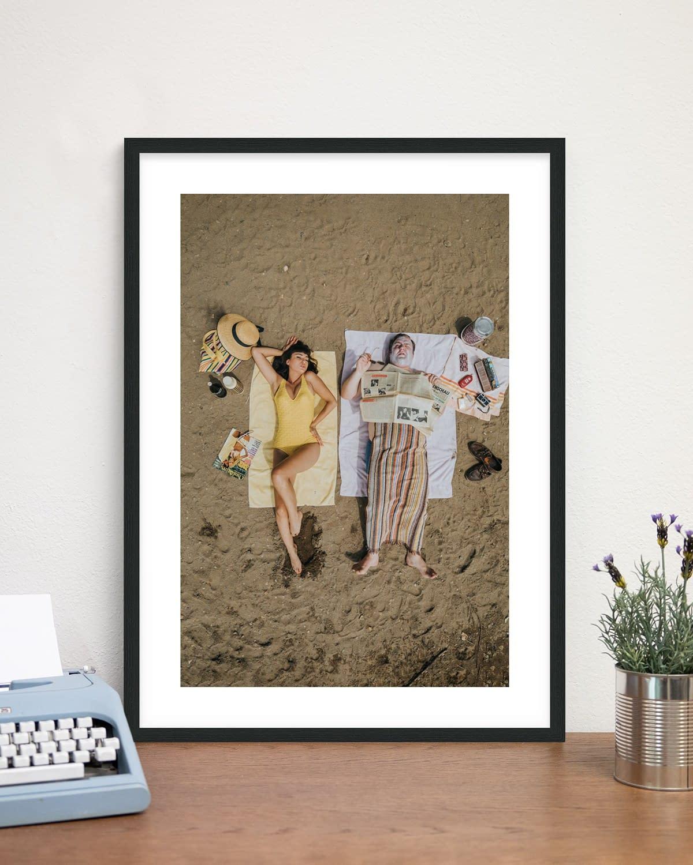 Rahmen: Schwarz - On the Beach - Sixties Project