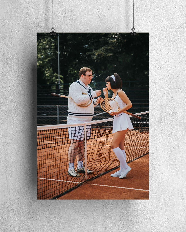 Retro Tennis -Poster - 1960-01-05